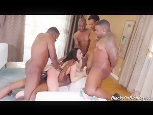 PAWG Chanel Preston hardcore interracial gangbang