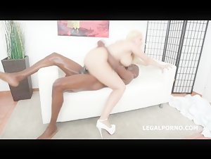 BBW Milf Angel Wicky takes huge black cock in her ass