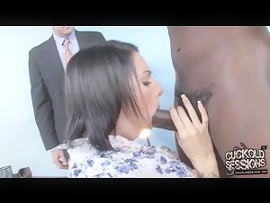 PAWG Juelz Ventura cuckold husband with huge black dick