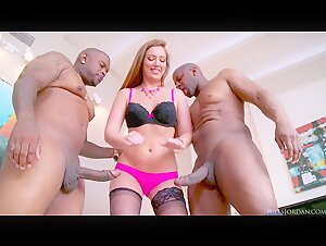 Maddy O'Reilly Gets A Double Black Penetration